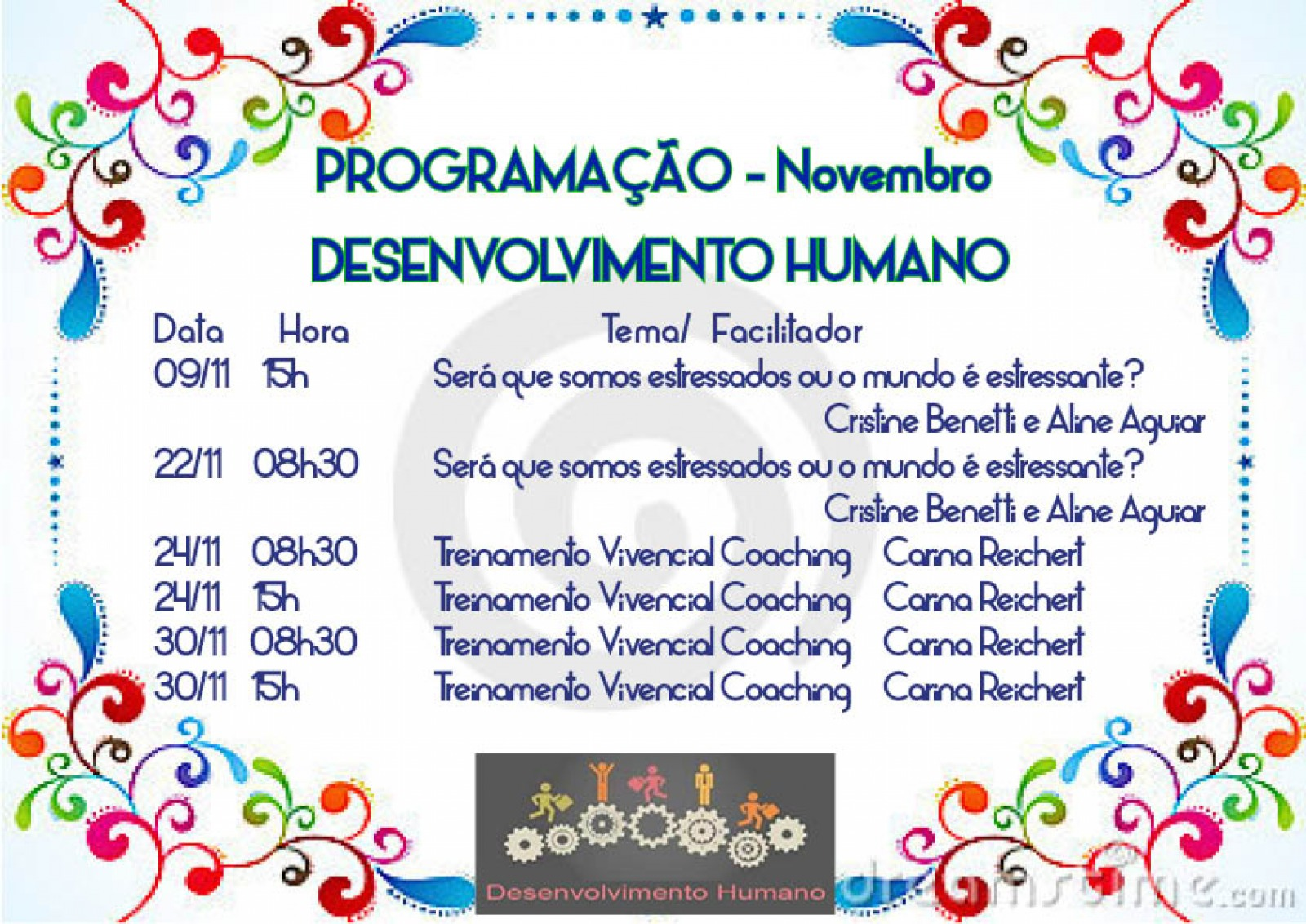 Treinamento Desenvolvimento Humano de Novembro
