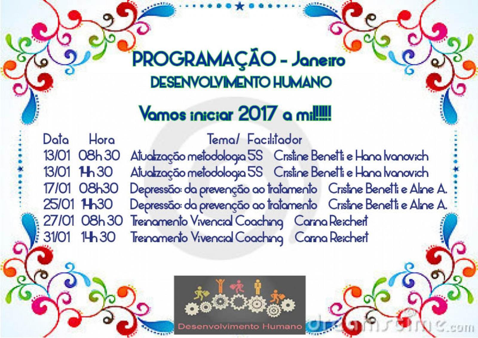 Treinamento Desenvolvimento Humano de Janeiro