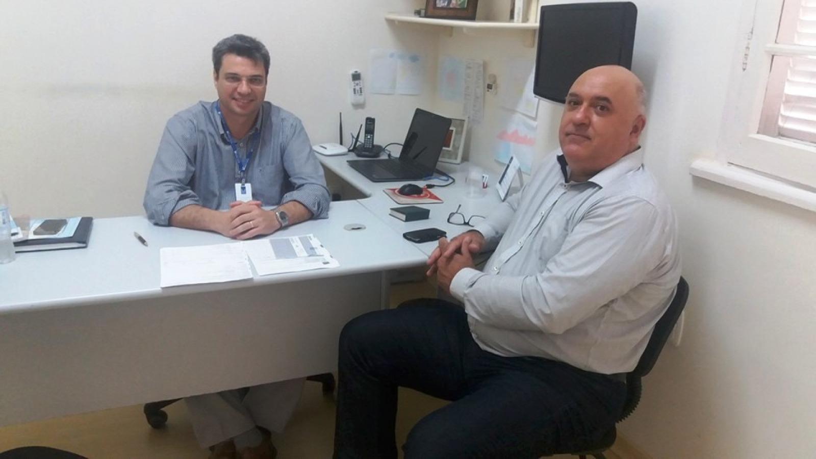 Visita de Dilnei Garate - Acreditação Hospitalar