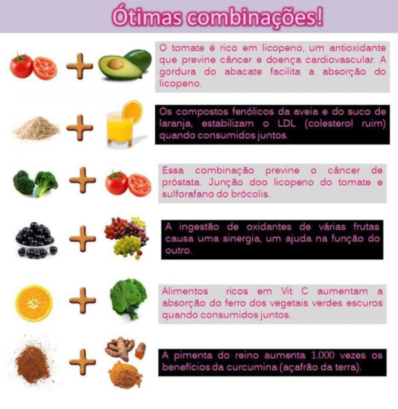 COMBINAÇÕES EXCELENTE DE NUTRIENTES