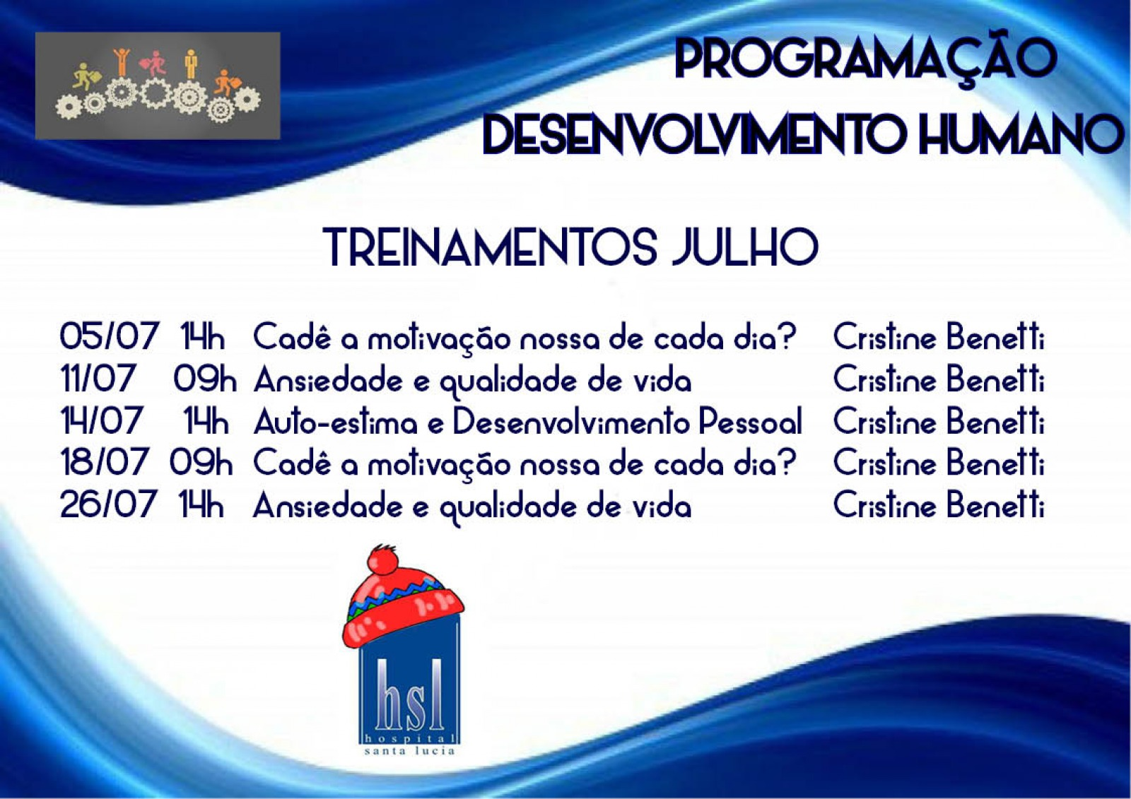 Treinamentos Desenvolvimento Humano - Julho
