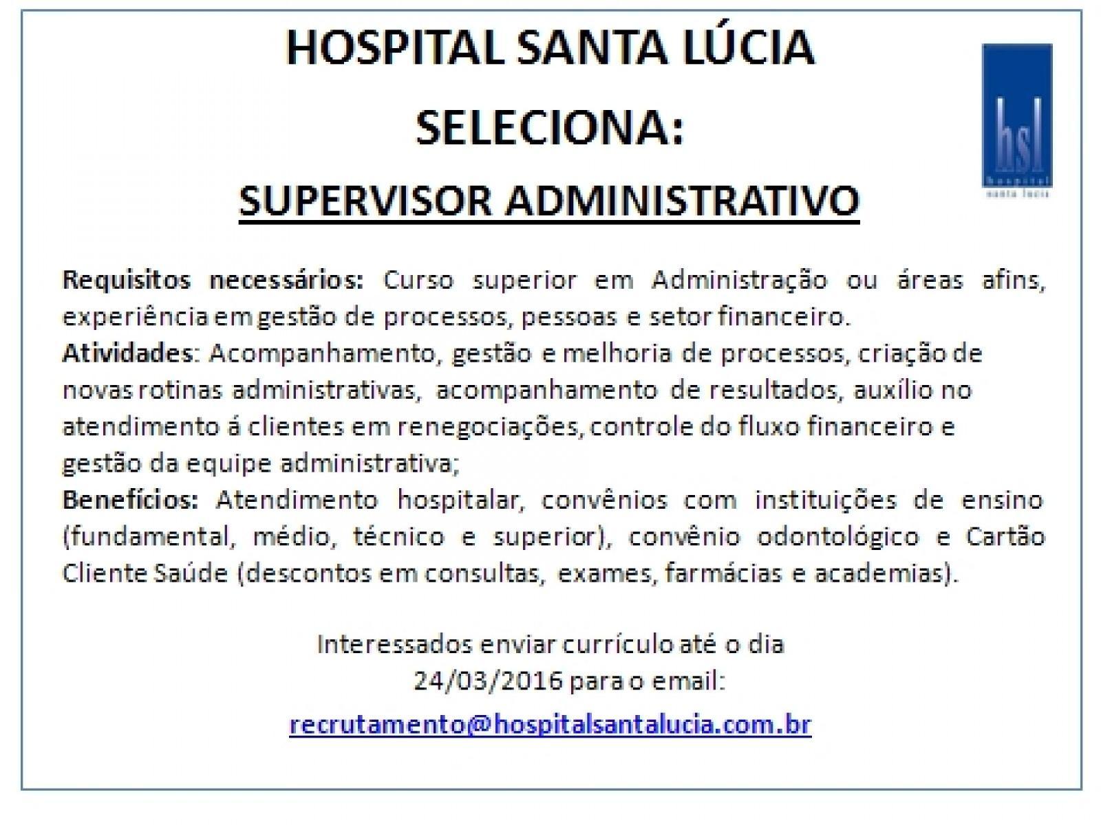 Supervisor Administratico