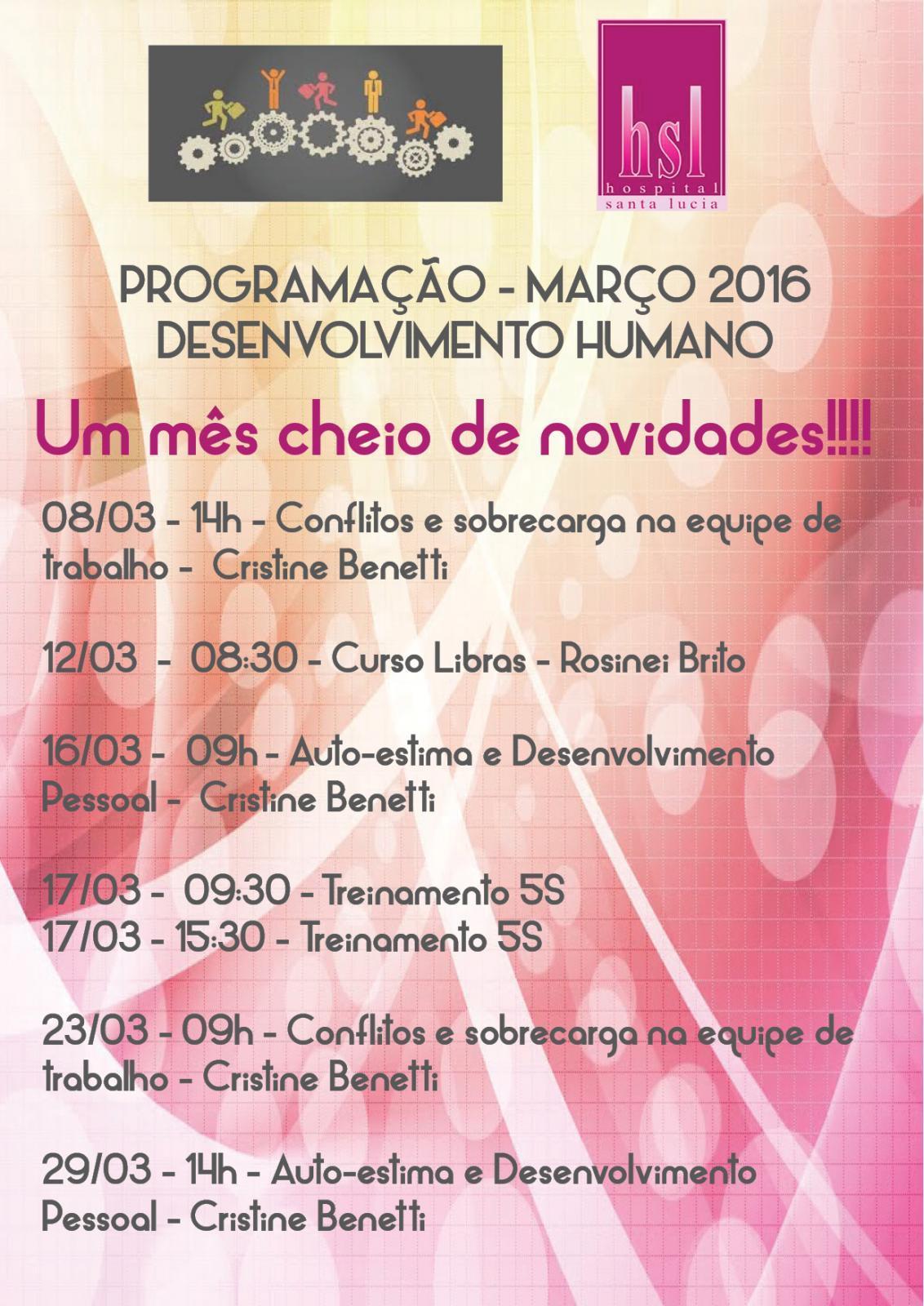 Programação de Março de 2016