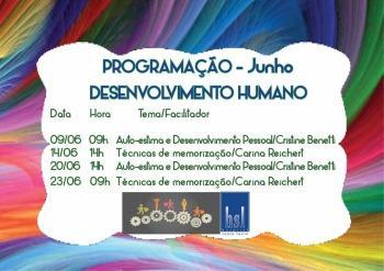 Treinamentos Desenvolvimento Humano - Junho