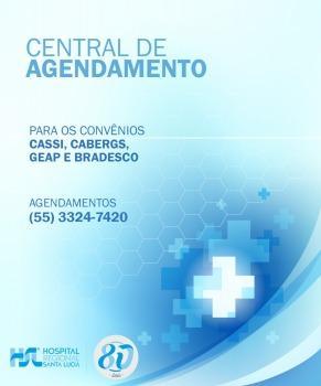 Central de Agendamento para os convênios CASSI, CABERGS, GEAP e Bradesco