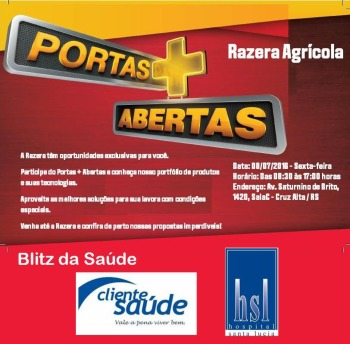 BLITZ DA SAÚDE - De Portas Abertas