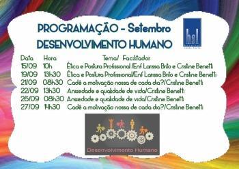 Treinamentos Desenvolvimento Humano - Setembro