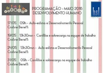 Treinamentos Desenvolvimento Humano - Maio
