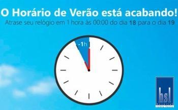 Horário de verão chega ao fim no próximo domingo