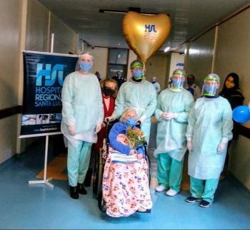 Covid-19: emoção na cura de paciente de 102 anos de idade no HRSL