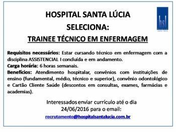 Trainee Técnico em Enfermagem