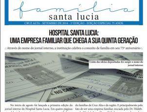 75 anos - Jornal interno agora possui nome: Fam�lia Santa Lucia
