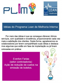 Idéias do Programa Lean de Melhoria Interna 5