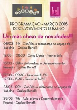Programação de Março de 2016 - Desenvolvimento Humano