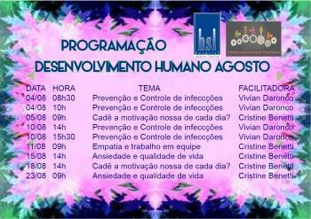 Treinamentos Desenvolvimento Humano - Agosto