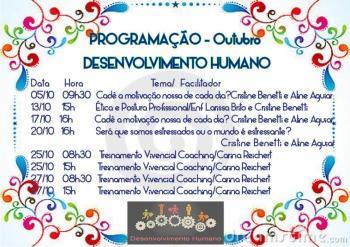 Treinamento Desenvolvimento Humano de Outubro